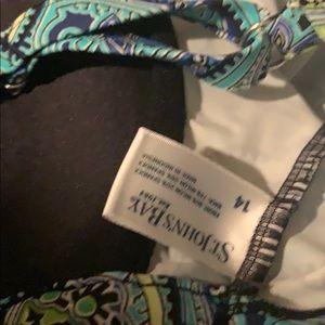 St. John's Bay Swim - St. John's Bay Teal Paisley Print Swim Suit
